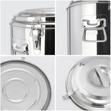 SOGA 12L Stainless Steel Insulated Stock Pot Dispenser Hot & Cold Beverage Container