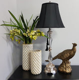Felicienne Champagne Table Lamp w/Black Shade