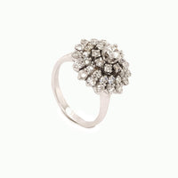Symmetrical Roset Ring 1.23Ct. in White gold