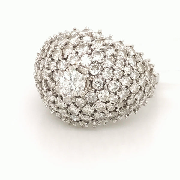 Brilliant Cut Bombe Ring 5.40Ct.