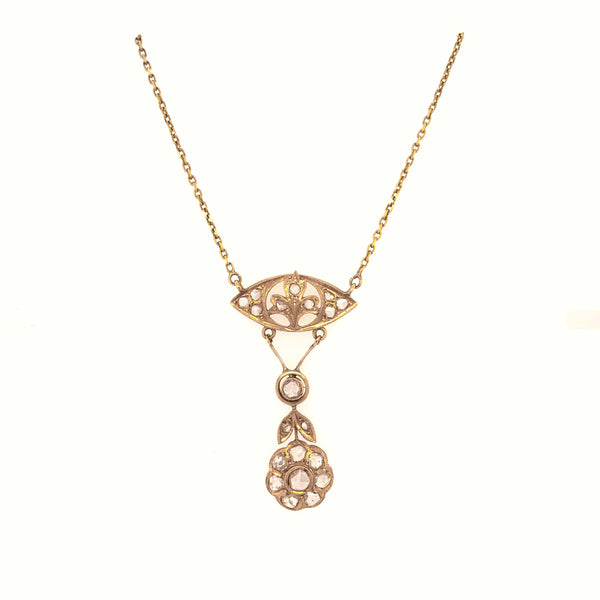 Delicate Antique Old-cut Diamond Collier