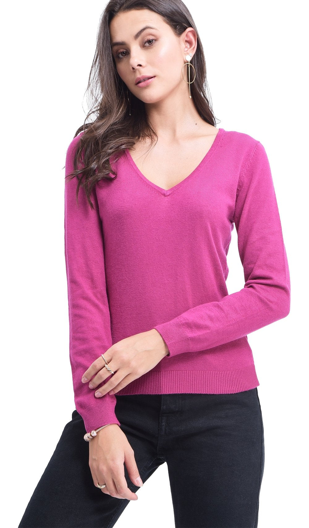 V-NECK BASIC SWEATER