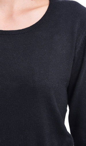 ROUND COLLAR BASIC SWEATER