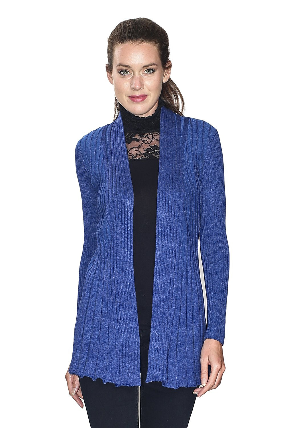 OPEN CARDIGAN WITH TEXTURED MESH (CLASSIC FIT)