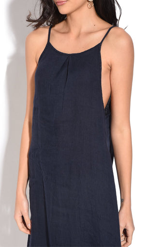 MID-LENGHT DRESS WITH STRAPS AND BACK OPENING