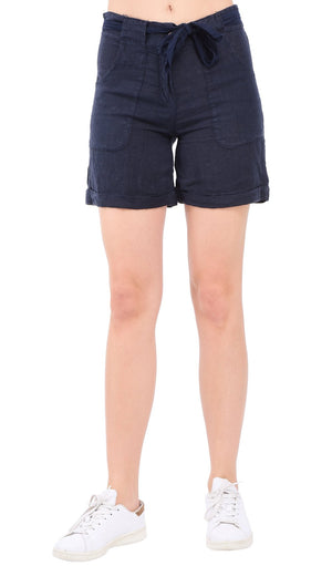 BERMUDA SHORT WITH POCKETS AND SCARF BELT