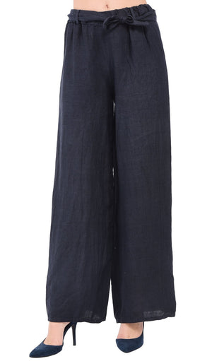 FLUID STRAIGHT CUT PANT WITH SCARF BELT
