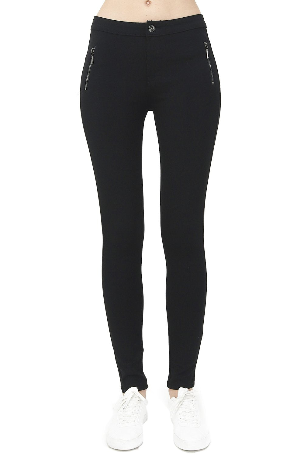 STRAIGHT FIT PANT WITH SIDE ZIPS