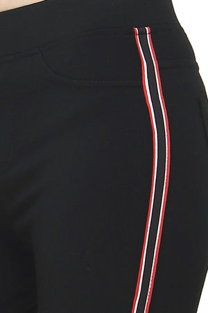 SLIM FIT PANT WITH BI-COLORS SIDE STRIPS