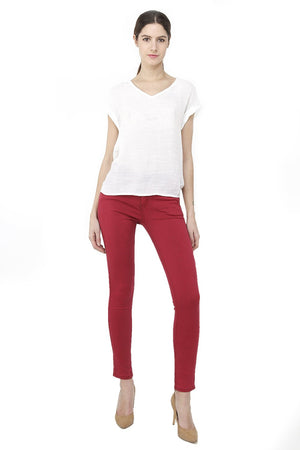 SLIM FIT PANT WITH HIGH WAIST