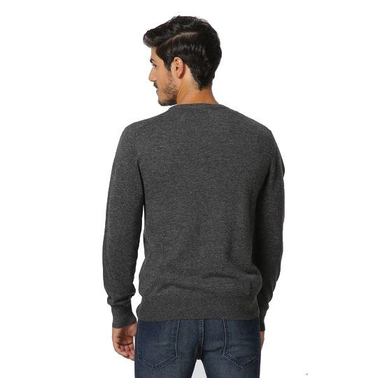 V-NECK SWEATER BI-COLORED INSIDE OF COLLAR