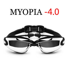 Load image into Gallery viewer, Optical Swimming Goggles Men Women Myopia Pool Earplug Professional Waterproof Swim Eyewear Prescription Adult Diving Glasses