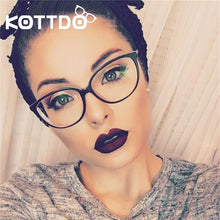 Load image into Gallery viewer, KOTTDO  Fashion Women Cat Eye Eyeglasses Frame Men Optical Glasse Frame Retro Eyeglasses Computer Glasses Transparent glasses