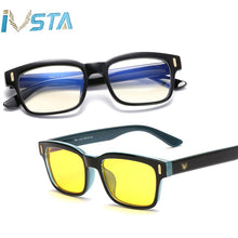 Load image into Gallery viewer, IVSTA Blue Light Glasses Frame Men Computer Glasses Gaming Nerd Anti Blue Rays Optical Prescription Myopia Polarized Sunglasses