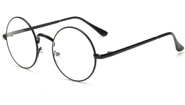 small round glasses clear lens