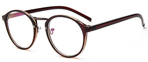Fashion Transparent round glasses clear frame