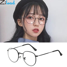 Load image into Gallery viewer, Zilead Oval Metal Reading Glasses Women&Men Clear Lens Presbyopic Glasses Optical Spectacle With Diopter 0to+4.0