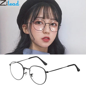 Zilead Oval Metal Reading Glasses Women&Men Clear Lens Presbyopic Glasses Optical Spectacle With Diopter 0to+4.0