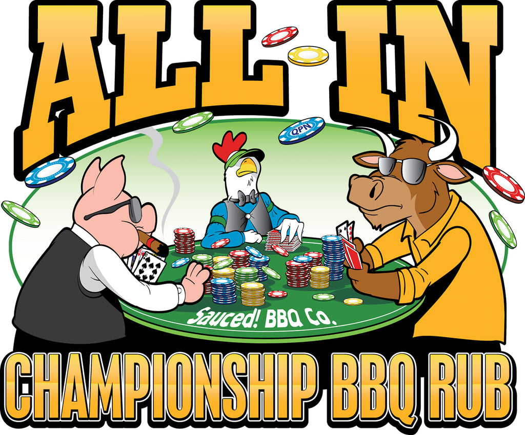 All In Championship BBQ Rub, 12 oz. shaker