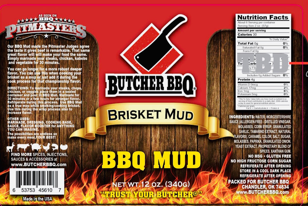 Butcher BBQ Mud- Brisket Mop and Steak Marinade