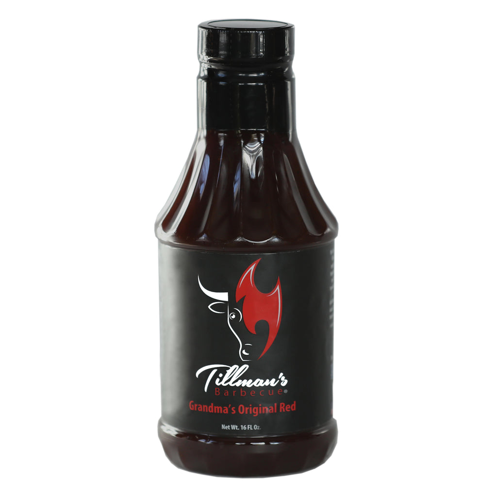 Tillman's Real Pit BBQ Grandma's Original Red Sauce, 16 ounce Bottle