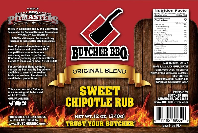 Butcher BBQ Sweet Chipotle Rub, 10.5 oz.