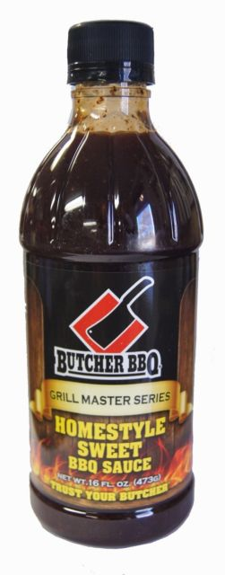 Butcher Homestyle Sweet BBQ Sauce, 16 fl. ounce Bottle