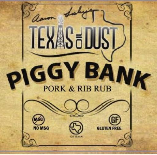 Texas Oil Dust Piggy Bank Pork and Rib Rub