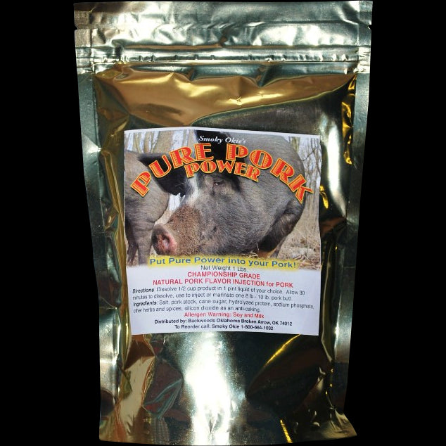 Smoky Okie's Pure Pork Power, 1lb bag