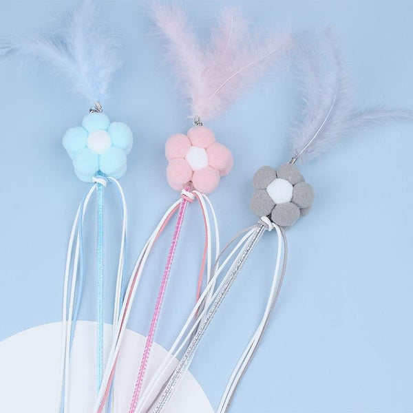 Fairy feather funny cat stick - LittleCutiePaws