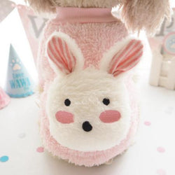 Pet cotton pullover with Rabbit design - LittleCutiePaws