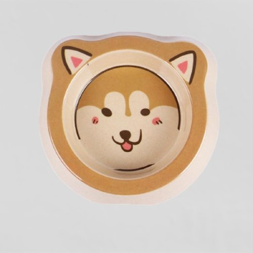 Shiba Inu dog ecofriendly bowl bamboo fiber - LittleCutiePaws