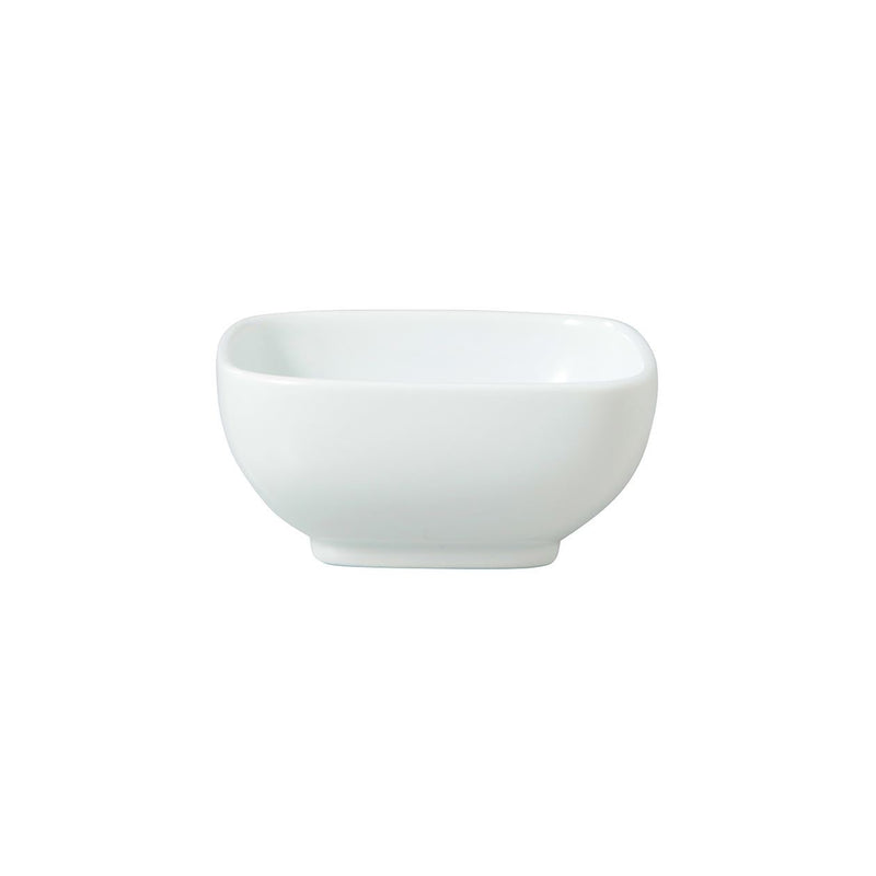 White Porcelain Square Bowl / S