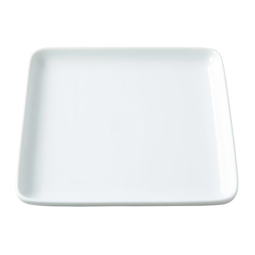 White Porcelain Square Dish / L