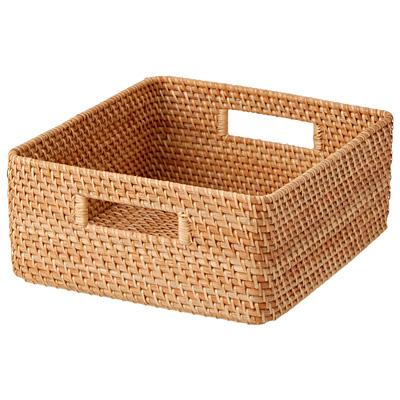 Stackable Rattan Basket Square