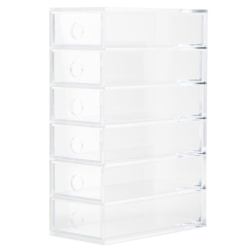 Acrylic 6 Drawer Unit