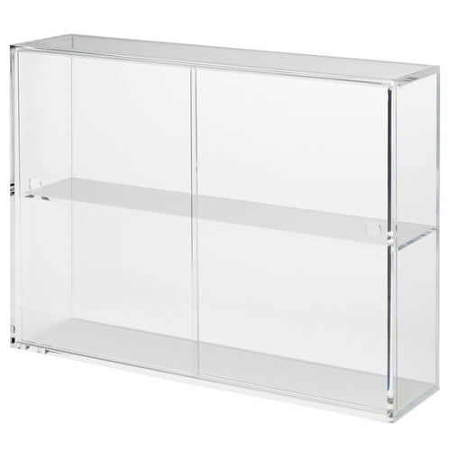 Acrylic Display Case With Sliding Doors / L
