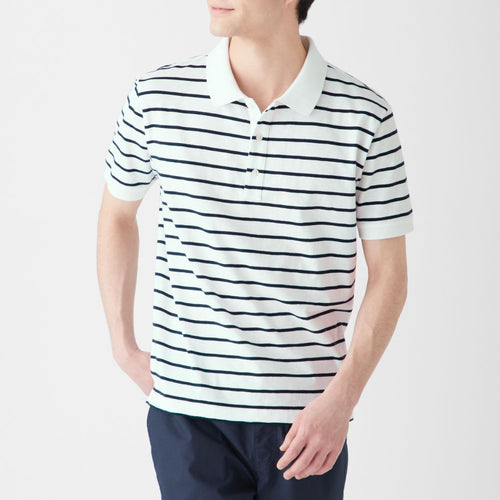OGC Uneven Yarn Border Polo Shirt