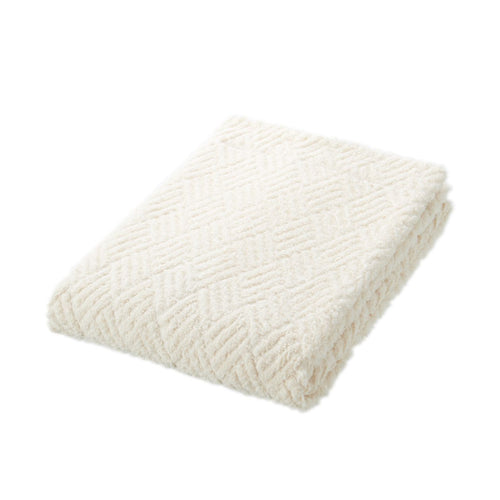Cotton Pile Jacquard Medium Thick Bath Towel Ecru
