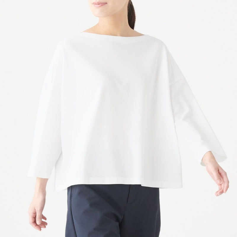 Xinjiang Cotton Pique Boat Neck Pullover