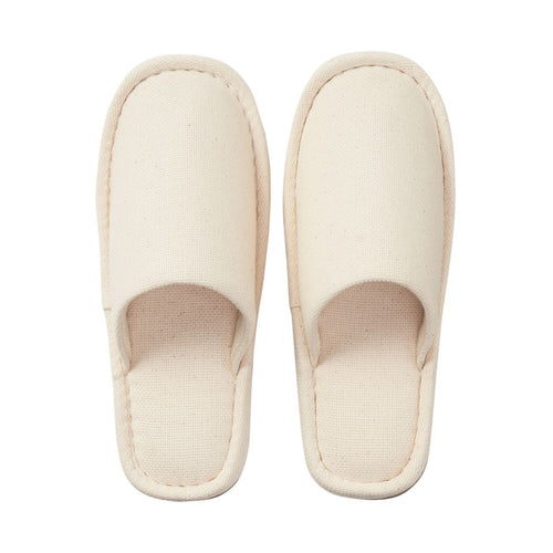Cotton Basket Weave Eva Sole Slipper Xl Ecru