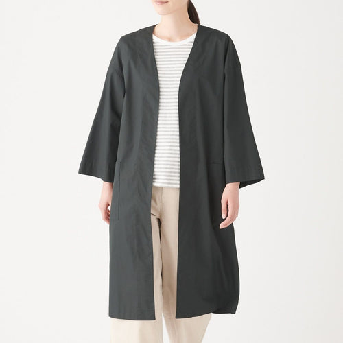 Water Repellent Ct Mix Long Cardigan