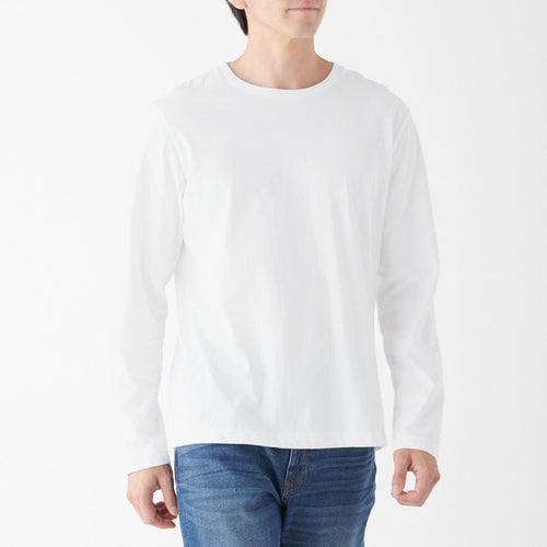 Indian Cotton Jersey Stitch Crew Neck Mens Long Sleeve T Shirt