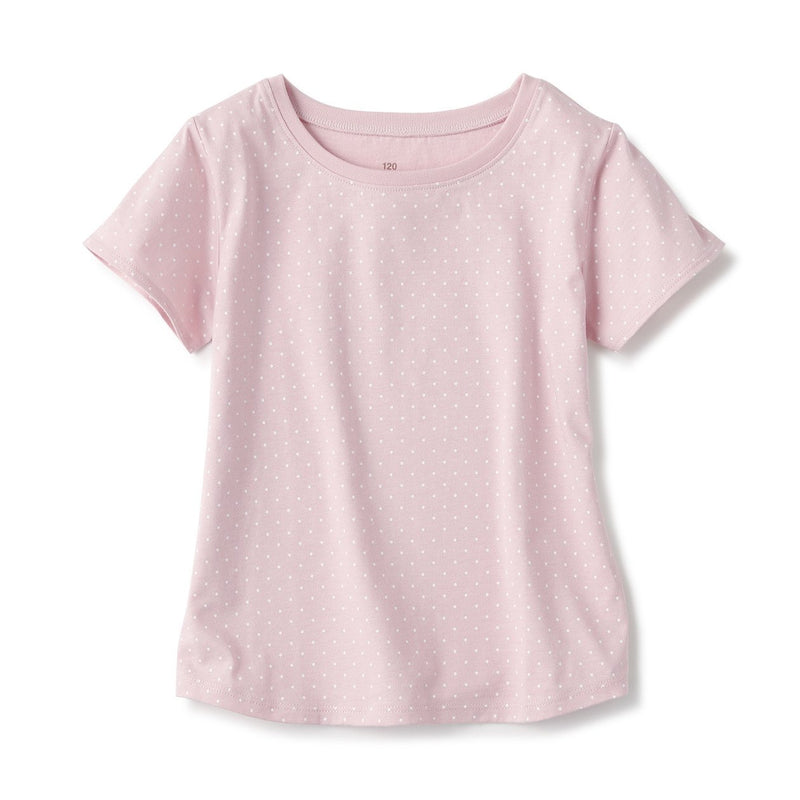 Indian Cotton Jersey Dot S/S Tshirt (Kids)