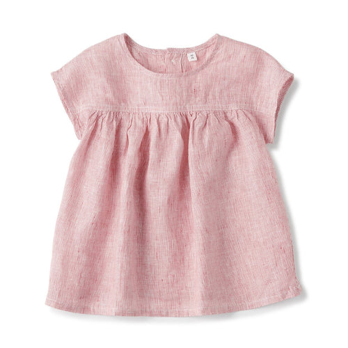 French Linen Washed S/S Blouse (Baby)