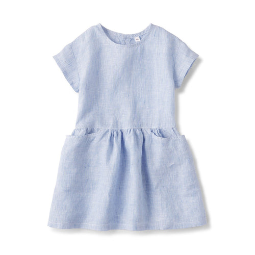 French Linen Washed S/S Dress (Baby)