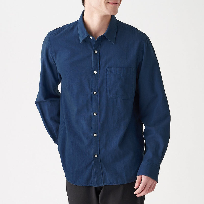 Indian Cotton Indigo Double Gauze Shirt