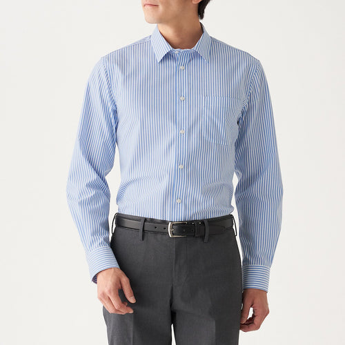 Xinjiang Cotton Stretch Permanent Press Broad Stripe Shirt