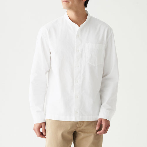 Xinjiang Cotton Oxford Stand Collar Shirt