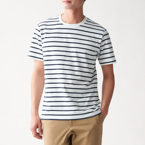 Indian Cotton Jersey Stitch Border S/S T-Shirt